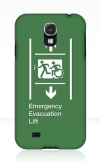 Accessible Exit Sign Project Wheelchair Wheelie Running Man Symbol Means of Egress Icon Disability Emergency Evacuation Fire Safety Lift Elevator Samsung Galaxy Case 3