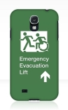Accessible Exit Sign Project Wheelchair Wheelie Running Man Symbol Means of Egress Icon Disability Emergency Evacuation Fire Safety Lift Elevator Samsung Galaxy Case 4