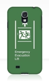 Accessible Exit Sign Project Wheelchair Wheelie Running Man Symbol Means of Egress Icon Disability Emergency Evacuation Fire Safety Lift Elevator Samsung Galaxy Case 5
