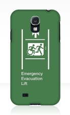 Accessible Exit Sign Project Wheelchair Wheelie Running Man Symbol Means of Egress Icon Disability Emergency Evacuation Fire Safety Lift Elevator Samsung Galaxy Case 8