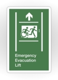 Accessible Exit Sign Project Wheelchair Wheelie Running Man Symbol Means of Egress Icon Disability Emergency Evacuation Fire Safety Lift Elevator Sticker 4