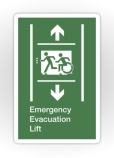 Accessible Exit Sign Project Wheelchair Wheelie Running Man Symbol Means of Egress Icon Disability Emergency Evacuation Fire Safety Lift Elevator Sticker 9