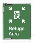 Accessible Exit Sign Project Wheelchair Wheelie Running Man Symbol Means of Egress Icon Disability Emergency Evacuation Fire Safety Refuge Area iPad Case 1