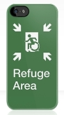 Accessible Exit Sign Project Wheelchair Wheelie Running Man Symbol Means of Egress Icon Disability Emergency Evacuation Fire Safety Refuge Area iPhone Case 2
