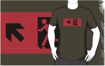 Running Man Fire Safety Exit Sign Emergency Evacuation Adult T-Shirt 10