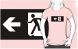 Running Man Fire Safety Exit Sign Emergency Evacuation Adult T-Shirt 100