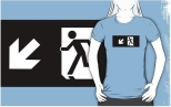 Running Man Fire Safety Exit Sign Emergency Evacuation Adult T-Shirt 103