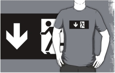 Running Man Fire Safety Exit Sign Emergency Evacuation Adult T-Shirt 104