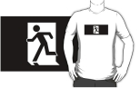 Running Man Fire Safety Exit Sign Emergency Evacuation Adult T-Shirt 105
