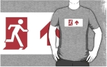 Running Man Fire Safety Exit Sign Emergency Evacuation Adult T-Shirt 106