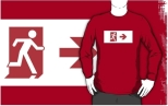 Running Man Fire Safety Exit Sign Emergency Evacuation Adult T-Shirt 108