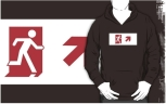 Running Man Fire Safety Exit Sign Emergency Evacuation Adult T-Shirt 109