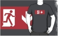 Running Man Fire Safety Exit Sign Emergency Evacuation Adult T-Shirt 110
