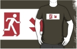 Running Man Fire Safety Exit Sign Emergency Evacuation Adult T-Shirt 112