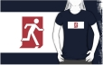 Running Man Fire Safety Exit Sign Emergency Evacuation Adult T-Shirt 115