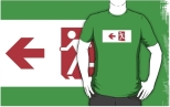 Running Man Fire Safety Exit Sign Emergency Evacuation Adult T-Shirt 117