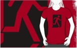 Running Man Fire Safety Exit Sign Emergency Evacuation Adult T-Shirt 118