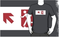 Running Man Fire Safety Exit Sign Emergency Evacuation Adult T-Shirt 119