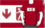 Running Man Fire Safety Exit Sign Emergency Evacuation Adult T-Shirt 121
