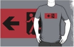 Running Man Fire Safety Exit Sign Emergency Evacuation Adult T-Shirt 125