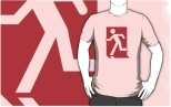 Running Man Fire Safety Exit Sign Emergency Evacuation Adult T-Shirt 126