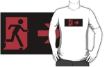 Running Man Fire Safety Exit Sign Emergency Evacuation Adult T-Shirt 128