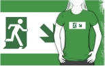 Running Man Fire Safety Exit Sign Emergency Evacuation Adult T-Shirt 19