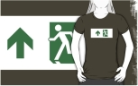 Running Man Fire Safety Exit Sign Emergency Evacuation Adult T-Shirt 23