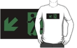 Running Man Fire Safety Exit Sign Emergency Evacuation Adult T-Shirt 24