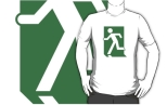 Running Man Fire Safety Exit Sign Emergency Evacuation Adult T-Shirt 28