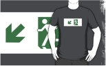 Running Man Fire Safety Exit Sign Emergency Evacuation Adult T-Shirt 29