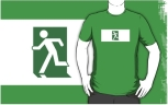 Running Man Fire Safety Exit Sign Emergency Evacuation Adult T-Shirt 31