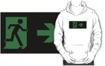 Running Man Fire Safety Exit Sign Emergency Evacuation Adult T-Shirt 33