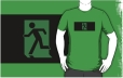 Running Man Fire Safety Exit Sign Emergency Evacuation Adult T-Shirt 36