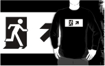 Running Man Fire Safety Exit Sign Emergency Evacuation Adult T-Shirt 39