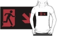 Running Man Fire Safety Exit Sign Emergency Evacuation Adult T-Shirt 4
