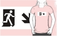 Running Man Fire Safety Exit Sign Emergency Evacuation Adult T-Shirt 40