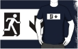 Running Man Fire Safety Exit Sign Emergency Evacuation Adult T-Shirt 42