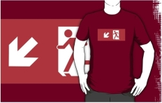 Running Man Fire Safety Exit Sign Emergency Evacuation Adult T-Shirt 43