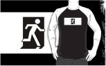 Running Man Fire Safety Exit Sign Emergency Evacuation Adult T-Shirt 45