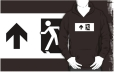 Running Man Fire Safety Exit Sign Emergency Evacuation Adult T-Shirt 47
