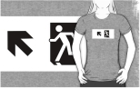 Running Man Fire Safety Exit Sign Emergency Evacuation Adult T-Shirt 49