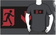 Running Man Fire Safety Exit Sign Emergency Evacuation Adult T-Shirt 5