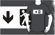 Running Man Fire Safety Exit Sign Emergency Evacuation Adult T-Shirt 51