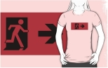 Running Man Fire Safety Exit Sign Emergency Evacuation Adult T-Shirt 55