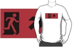 Running Man Fire Safety Exit Sign Emergency Evacuation Adult T-Shirt 56