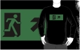 Running Man Fire Safety Exit Sign Emergency Evacuation Adult T-Shirt 59