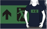 Running Man Fire Safety Exit Sign Emergency Evacuation Adult T-Shirt 62