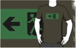 Running Man Fire Safety Exit Sign Emergency Evacuation Adult T-Shirt 64