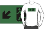 Running Man Fire Safety Exit Sign Emergency Evacuation Adult T-Shirt 67